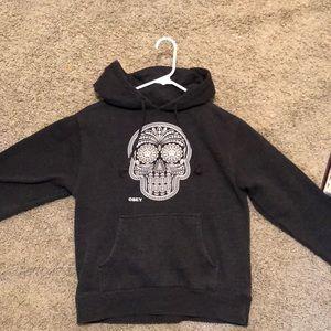 Glow-in-the-dark sugar skull hoodie